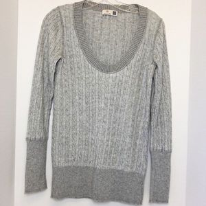 Gap Cashmere Blend V-Neck Cable Sweater Small